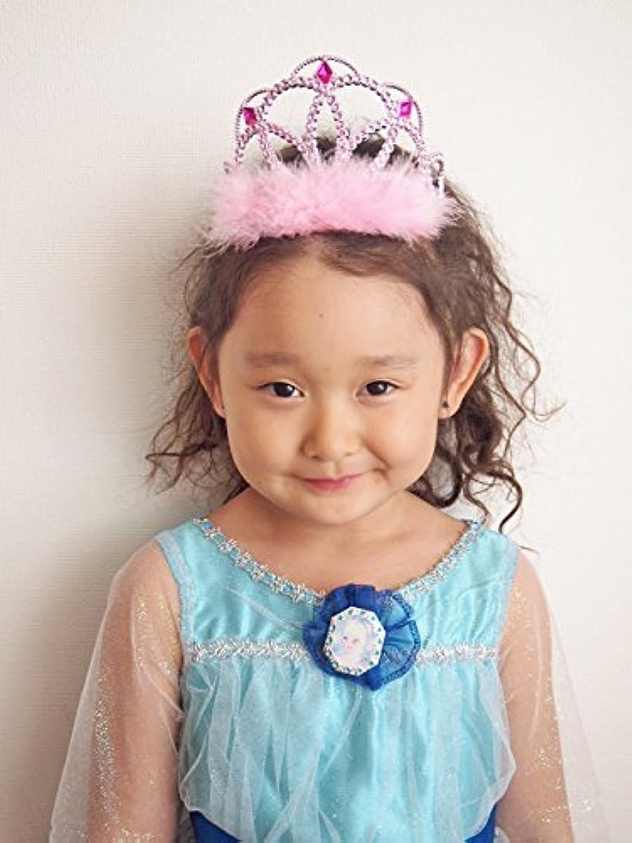 [해외] 파티나 해피버스데이에 프린세스에게 변신♥ 「이 re 데 세인트티아라 핑크」 프린세스 기분으로 드레스 업 할수있음요 이어여운 티아라♪ 도착일 시 지정도 가능합성피혁니다♪-