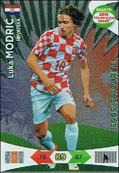 Adrenalyn XL Road To 2014 World Cup Brazil #198 Luka Modric Fans Favourite