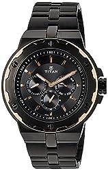 Titan Analog Multi Color Dial Mens Watch - 1654KM04