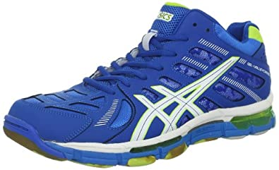 ASICS Men's GEL-Volleycross 4 MT Volley Ball Shoe,Imperial Blue/White/Lime,16 M US