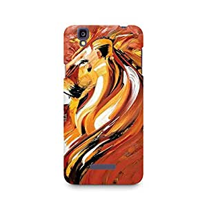 Motivatebox- Sher Khan Premium Printed Case For Micromax YU Yureka A05510 -Matte Polycarbonate 3D Hard case Mobile Cell Phone Protective BACK CASE COVER. Hard Shockproof Scratch-