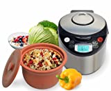 VitaClay VM79008 Smart Organic MultiCooker/Rice Cooker Brushed Stainless