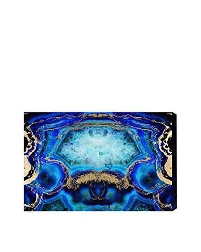 Oliver Gal Geode Bleu Canvas Art