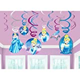 Disney Cinderella Value Pack Foil Swirl Decorations