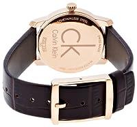 CK K2G23620 - Reloj de cuarzo para mujer, correa de cuero color marrón de CK