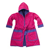 Child Pink-Purple Moons and Stars Polar Fleece Robe XL 11-14Y