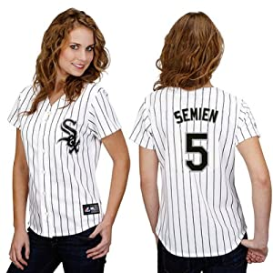 Marcus Semien Chicago White Sox Home Ladies Replica Jersey by Majestic by Majestic