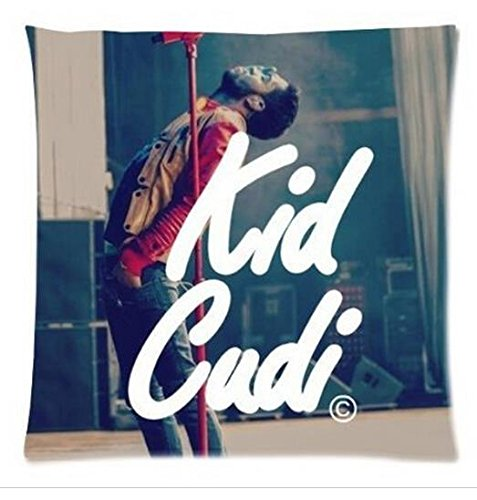 Cartrol 18X18 Inch Cotton Cushion Cover Hot Sale Singer Star Kid Cudi Throw Pillow Case (One Side) front-657237