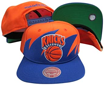 New York Knicks Mitchell & Ness Snapback Adjustable Plastic Snap Back Hat Cap by Mitchell & Ness