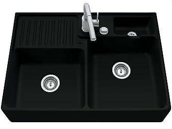 Villeroy Boch Sink / Wash &D02L) Modulspule Sink Ceramic Ebony Black