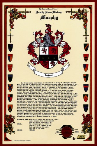 Murphy Coat Of Arms/Crest And Family Name History, Meaning & Origin Plus Genealogy/Family Tree Research Aid To Help Find Clues To Ancestry, Roots, Namesakes And Ancestors Plus Many Other Surnames At The Historical Research Center Store front-480458