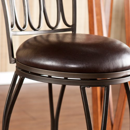 SEI Summerville Adjustable Counter Stool, Brown