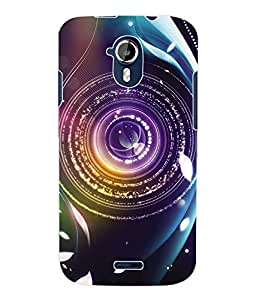 Fuson 3D Printed Lens Designer Back Case Cover for Micromax Canvas Magnus A117 - D637