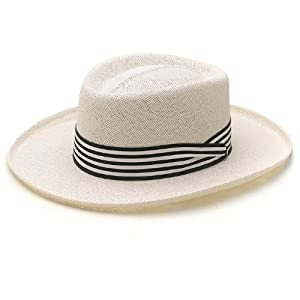 Dobbs Barbados Straw Summer Hat Fined Twisted Cord Gambler Mens Size Small