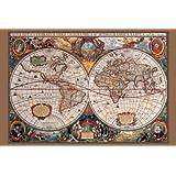 17th Century World Map (Antique) Art Maxi Poster Print - 61x91 cm