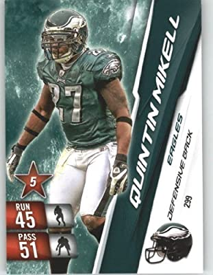2010 Panini Adrenalyn XL NFL Trading Card #299 Quintin Mikell - Philadelphia Eagles - NFL Trading Card