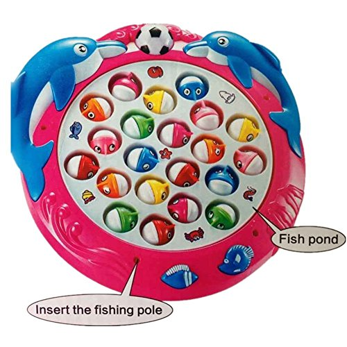 Funny magnetic fishing game 4 fishing poles 21 fishes for Electronic fishing game