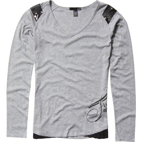 Fox Racing Star Top Girls Long-Sleeve Casual Wear Shirt - Heather Grey / Medium