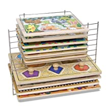 [Best price] Puzzles - Melissa & Doug Deluxe Wire Puzzle Rack - toys-games