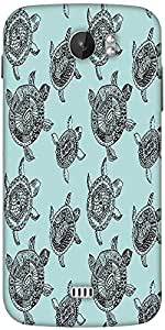 Snoogg Seamless Pattern With Turtles Seamless Pattern Can Be Used For Wallpaper Designer Protective Back Case Cover For Micromax A110