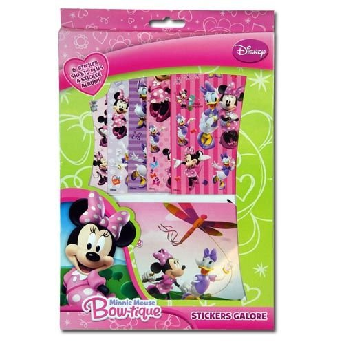 WeGlow International Minnie Bowtique Sticker Sheet and Album Set (Set of 2)