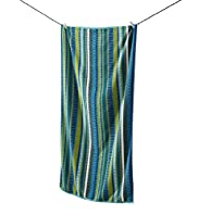 Striated Blue Beach Towel