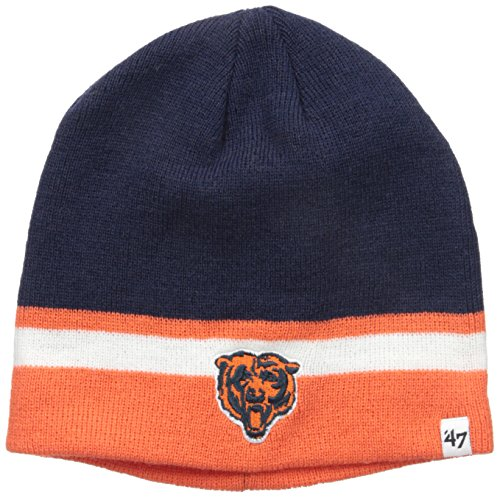 NFL Chicago Bears Youth '47 Buddy Knit Beanie, Navy, One Size (Bears Winter Hat compare prices)