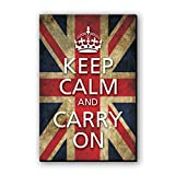 Seven Rays Keep Calm & Carry On - flag Fridge Magnet