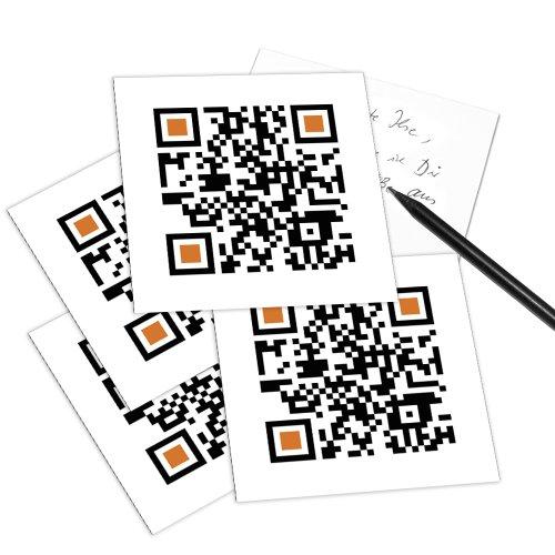 Set di 5 QR-Code Cartoline - Scansione con lo smartphone e ottenere messaggio di benvenuto (in inglese): WANNA GO OUT? (Wollen wir ausgehen?)
