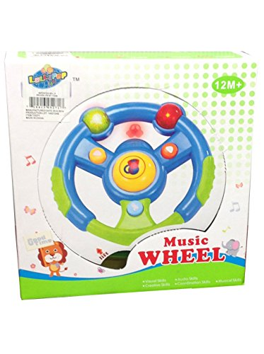 Baby Music Steering Wheel with Flashing Lights by Lollipop - 1