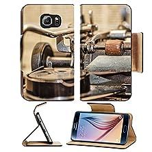 buy Msd Samsung Galaxy S6 Flip Pu Leather Wallet Case Retro Vintage Typewriter Closeup Shot Office Supplies Image 30796767