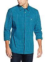 Peak Performance Camisa Hombre Gust Ls (Turquesa / Azul Noche)