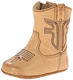 FRYE Rodeo Western Bootie (Infant/Toddler), Tan, 2 M US  Infant
