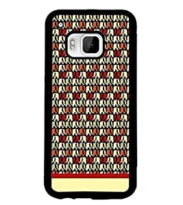 PrintDhaba Elephant Pattern D-1906 Back Case Cover for HTC ONE M9S (Multi-Coloured)