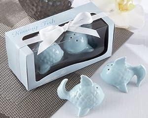 'Kissing Fish' Ceramic Salt & Pepper Shakers