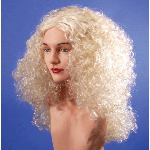 Star Power Super Curl Long Halloween Wig Blonde One Size