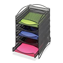 5 Drawer Black,Safco Mesh Literature Organizer
