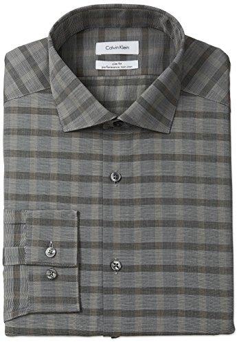 Calvin-Klein-Mens-Non-Iron-Slim-Fit-Buffalo-Check-Spread-Collar-Dress-Shirt