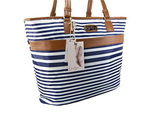 New Jessica Simpson Laptop Computer Carry On Luggage Hand Bag Purse Blue