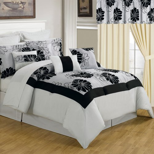 Lavish Home 66-00011-24Pc-Q 24-Piece Room-In-A-Bag Madison Bedroom Set, Queen front-283432