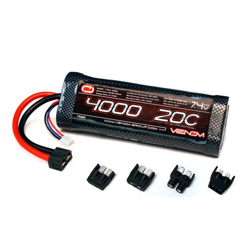 Venom 20C 2S 4000mAh 7.4 Hard Case LiPO Battery ROAR Approved for Tamiya Cars