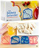 StarPack Kids Sandwich Cutter Set of 4 - Sandwich and Bread Crust Cutters in 4 Cute Shapes + Bonus 101 Cooking Tips