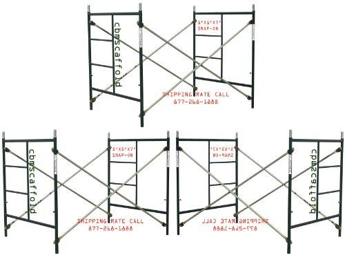 3 Sets of Scaffolding masonry Box frames 5' x 5' x 7' Snap-On Scaffold CBM1290