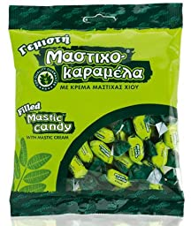 Greek Mastic Candy Filled with Mastic Cream. Bag 200g