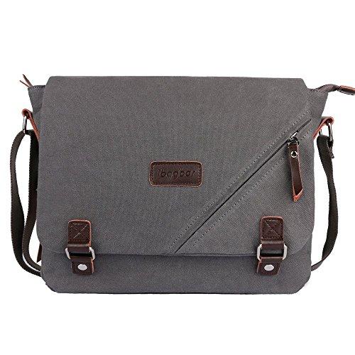 ibagbar-14-inch-large-canvas-shoulder-laptop-bag-gray