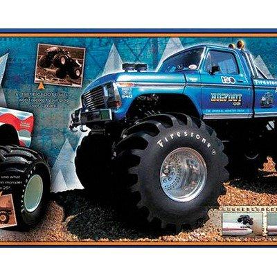 Imagen de Bigfoot Free Style Wallpaper Border in Blue