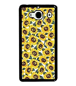 Fuson Premium 2D Back Case Cover Sunflower With yellow Background Degined For Xiaomi Redmi 2S::Xiaomi Redmi 2::Xiaomi Redmi 2 Prime