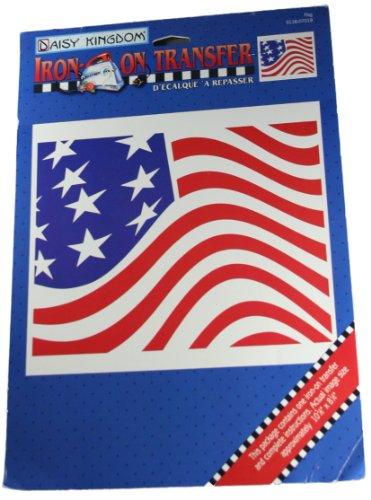Daisy Kingdom Iron-On Transfer Flag 10-5/8 x 8-1/4 Inch