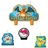 Pokemon Pikachu Birthday Candles 4 Pc