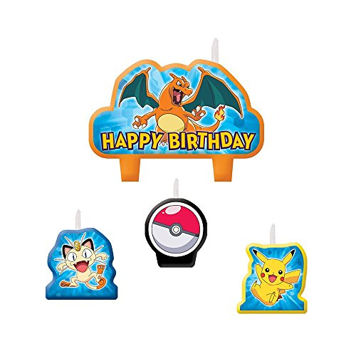 Pokemon Pikachu Birthday Candles 4 Pc - 1